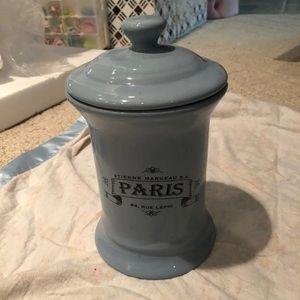 Other - Blue porcelain Paris container